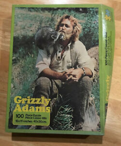 Vtg Grizzly Adams Jigsaw Puzzle House Games Waddingtons Complete 100pc Raccoon