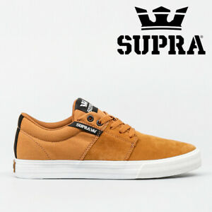 NEW Supra Stacks Vulc II Skate Shoes Trainers - Cathay Spice / Black / White
