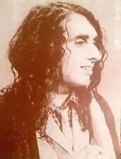 "Vintage 1969 Tiny TIM Sepia Poster Huge Original 30"" x 42"" Tiptoe Peace Love"