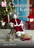 Christmas Knits Book 6 King Cole Blanket Doorstop Wreath Toys Knitting Pattern