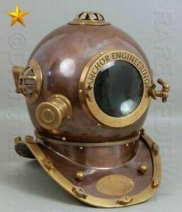 "Maritime Scuba Anchor Engineering Diving Brass Helmet Handmade Divers Helmet 18"""