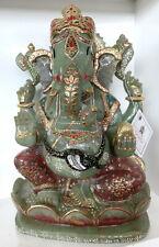 Huge 14.5 Kilo Hand Carved Ganesha on Indian Jade Gemstone Sculpture Art craft