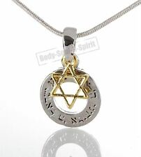 Lucky Charm Star Pedent Ring Silver Plated Jewish Hamsa Necklace Judaica