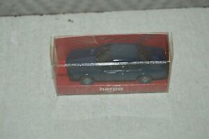 MINIATURE VOITURE HERPA  BMW  633 CSI BLEU CAR/AUTO 1/87 TRAIN HO NEUF