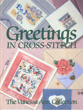 Greetings in Cross-Stitch Greeting Card Pattern Book Hardcover Vanessa Ann