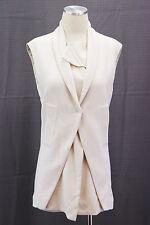 NWT $2385 Brunello Cucinelli Women's Silk Lapel Long Waistcoat Vest Size 42/M
