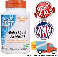 ALPHA LIPOIC ACID 600 mg Antioxidant Healthy Blood Sugar Metabolism 60 Capsules