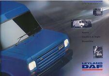 Leyland Daf 200 & 400 Series Original UK Sales Brochure circa 1991-92 No. LD002