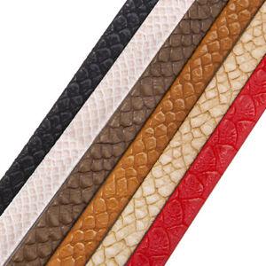 Faux Leather Trim Crocodile Croc Skin PU Tape Strap Craft Trimming, Neotrims UK