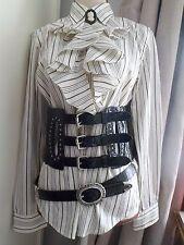 Ladies STEAMPUNK Victorian Edwardian Style Ralph Lauren RUFFLE Blouse SHIRT