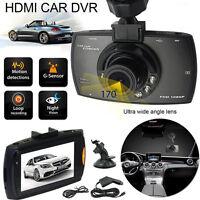 """2.7"""" Vehicle 1080P Car DVR Camera Video Recorder Dash Cam G-Sensor Dual Lens"""