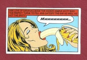 """Sticker Decal """" Mmm Banana - the Perfect Thing """" High-Gloss"""