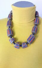 COLLIER  TIBETAIN avec lapis-lazuli et corail orange 2