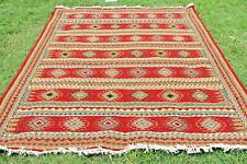 Modern Soumak Navajo Kilim Hand-Woven Tribal Turkish Kilim Large Area Rug 9x12