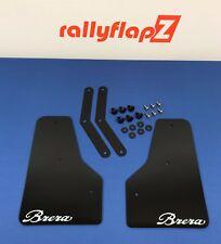RallyflapZ ALFA BRERA frontal Mud Flaps & Kit-Negro 4 mm PVC 'Brera' Logotipo Blanco