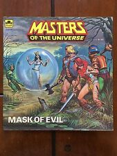 Vintage 1984 MASTERS OF THE UNIVERSE Mask Of Evil Hughes BOOK Golden Heros