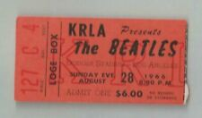 THE BEATLES LOS ANGELES  AUGUST 28 1966 CONCERT TICKET KRLA