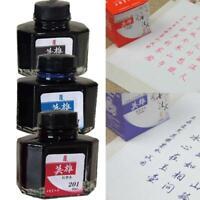 Hero Fountain Pen Ink Bottle 60ml 3Color Select Inkwith bottle School Supplies