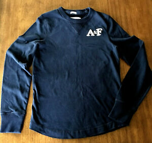 Abercrombie & Fitch A&F Men's S Muscle Fit Shirt Crew Neck Sweatshirt Blue