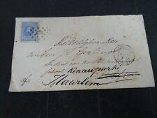 Nederland 19 op (vlekkerige) brief Utrecht - Delft - Haarlem 1877
