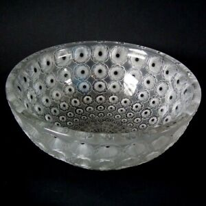Rene Lalique Clear & Frosted Glass 'Nemours' Bowl