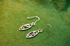 Hand made solid sterling silver filigree earrings  one pair only