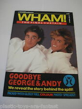 Vintage WHAM George Michael Pipeline Magazine The Final Curtain 1986 MINT