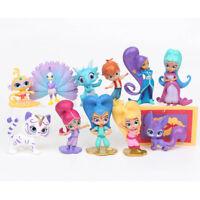 Shimmer And Shine Leah Zac Kaz Tala Nahal 12 PCS Action Figure Toy Kid Xmas Gift