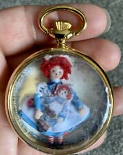 Dollhouse Artist OOAK Miniature Raggedy Ann Doll In Pocket Watch Case New