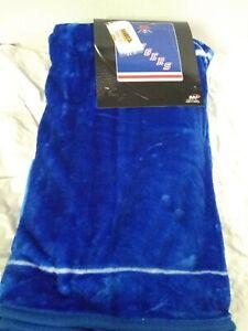 "NHL Hockey New York Rangers Jersey Royal Plush Fleece Throw Blanket 50"" x 60"""
