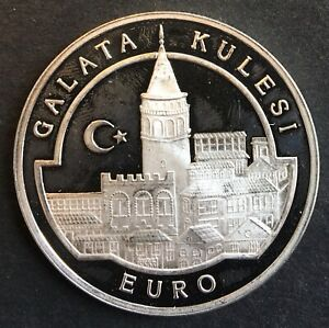 Turkey - Silver 3.00.000 Lira Coin - 'Galata Tower' - 1999 - Proof