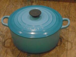 Le Creuset Cast Iron  Casserole Dish 24 Caribbean Blue
