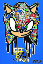 SONIC THE HEDGEHOG GO FASTER GRAFFITI 24X36 POSTER VIDEO GAMES SEGA NINTENDO NEW