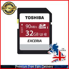 32GB Memory Card Toshiba Exceria N302 32GB SD Memory Card 90 MBs 4K HD Class 10