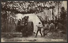 Firing a Heavy Howitzer in France. WW1 Daily Mail Battle Pictures #79