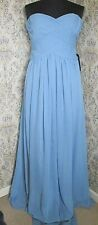 Full length light blue floaty ballgown bridesmaid dress J S BOUTIQUE Size 14 NWT