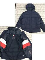TOMMY HILFIGER MENS UK XXL NAVY HOODED STRETCH BOMBER JACKET PUFFER RRP £250 EP