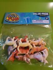 Cats kittens 12 pc plastic toy animal bags .Barnyard farm cats. GREAT (cake top)