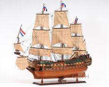 """Holland Frigate Friesland Tall Ship 37"""" Built Wooden Model Sailboat Assembled"""