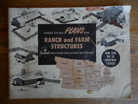 Vintage 1957 where to get plans for ranch farm structures Dealers Booklet Shed