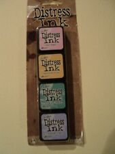 TIM Holtz Distress Ink MINI PACK KIT # 4 tdpk40347 NUOVO con confezione 4, Mini ink PADS * LOOK *