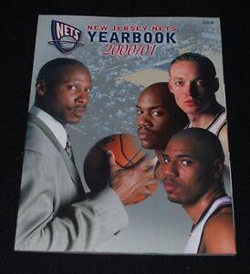 2000/01 New Jersey Nets Basketball Yearbook-NM-Van Horn, Marbury, KMart, Scott
