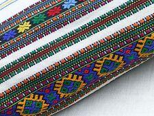 Antq embroidered linen bolster pillowcase floor cushion cover Ukrainian folk art