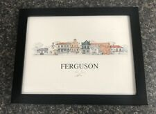 """John Pils FERGUSON MISSOURI Founded 1894 Pencil Signed Framed 11"""" x 8.5"""" Print"""