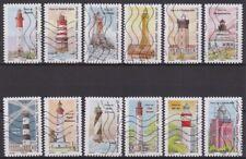 France 2020 : les 12 timbres du Carnet - Phares - Repères de nos côtes - oblitér