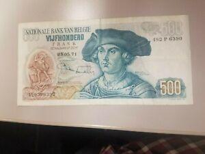 500 FRANC BELGIUM 1971  EXTRA FINE COMBINE SHIPPING NO RESERVE