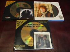 BOB DYLAN 24 KARAT 3 GOLD CD'S TREMENDOUSLY RARE DCC + CBS & AUDIO FIDELITY SET
