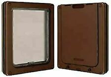 Dog Mate Dog Door in Brown for Medium Dogs with Magnetic Closure & Lightweight