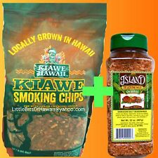 ISLAND SEASONINGS HAWAIIAN SEA SALT SPICE RUB + KIAWE WOOD SMOKING CHIPS HAWAII
