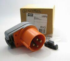 HUBBELL L430P12 Low Profile Male Plug (IEC 309) 3 Pole - 30A - 125/250V - Orange